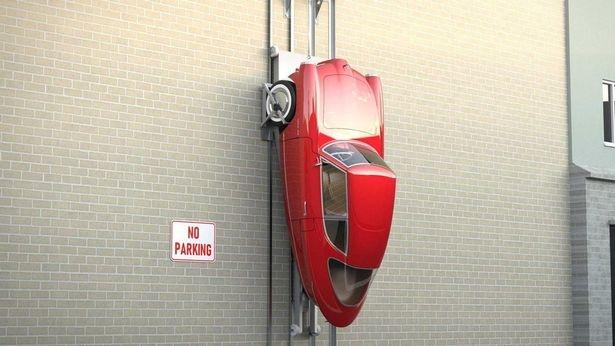 Nobe 100 - невероятная электрическая машина, которую вы можете припарковать на стене