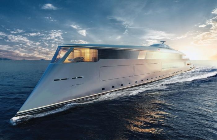 Футуристическая 110-метровая эко-супер-яхта, работающая на жидком водороде, является последней новинкой для состоятельных людей