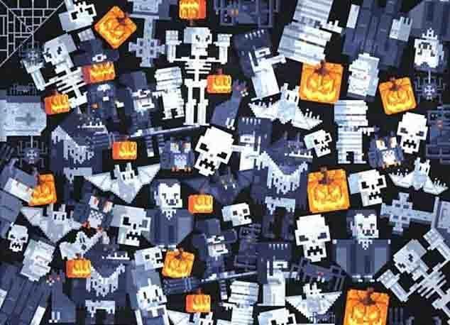 Сможете ли вы найти призрака, спрятавшегося среди упырей и монстров на этой жуткой головоломке на Хэллоуин?