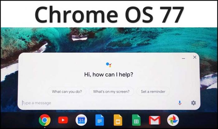 Выпуск Chrome OS 77