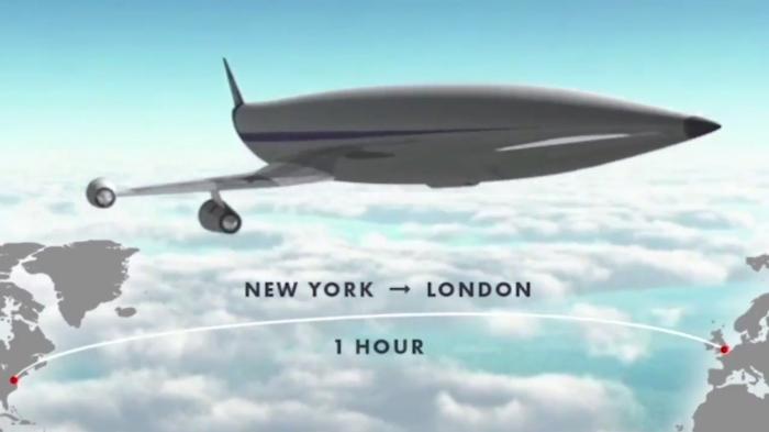 Самолет, который может долететь из Лондона в Нью-Йорк за один час получит поддержку в 100 миллионов фунтов стерлингов