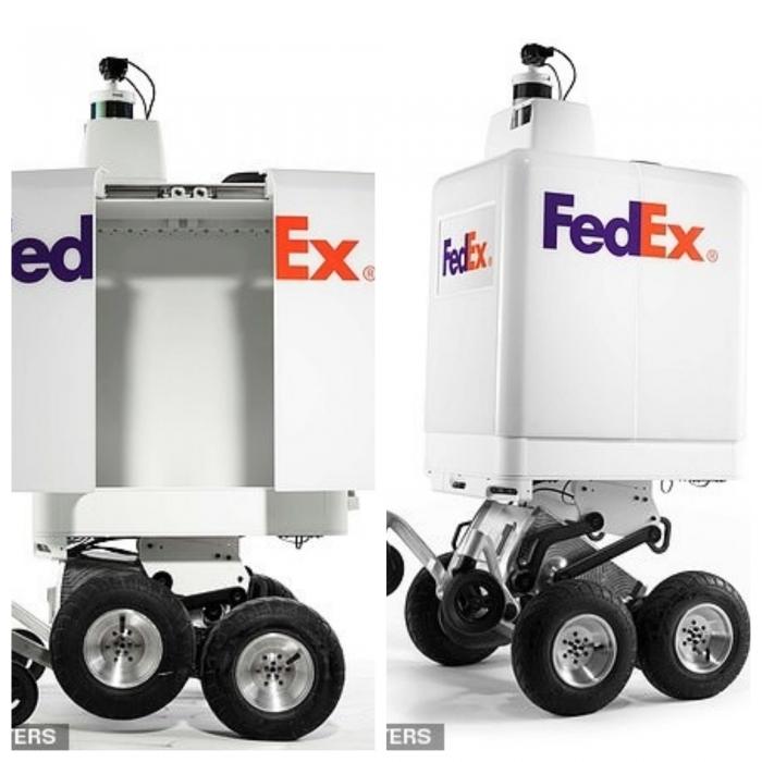 Слышали FedEx плотно занялся доставкой продуктов роботами и сотрудничает с Волмарт и Пицца Хат