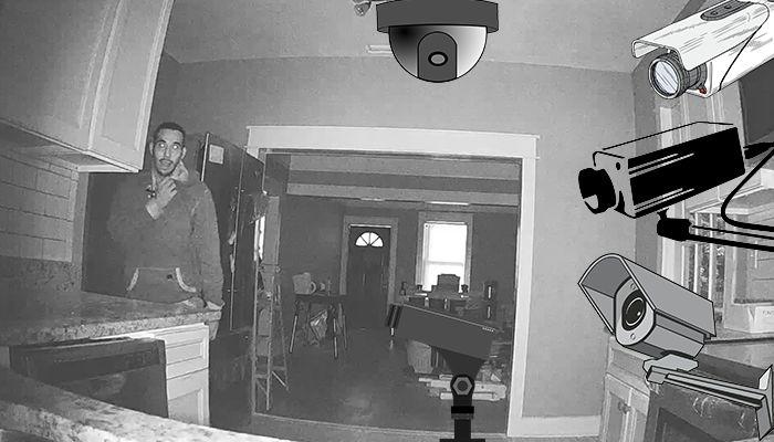 Вор украл камеру видео наблюдения