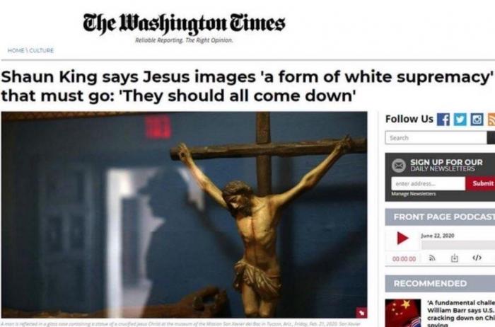 Протестующие в США требуют уничтожить изображения Христа, поскольку он белый