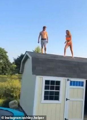 Девушка прыгает с крыши на батут и в бассейн, но всё пошло ужасно неправильно
