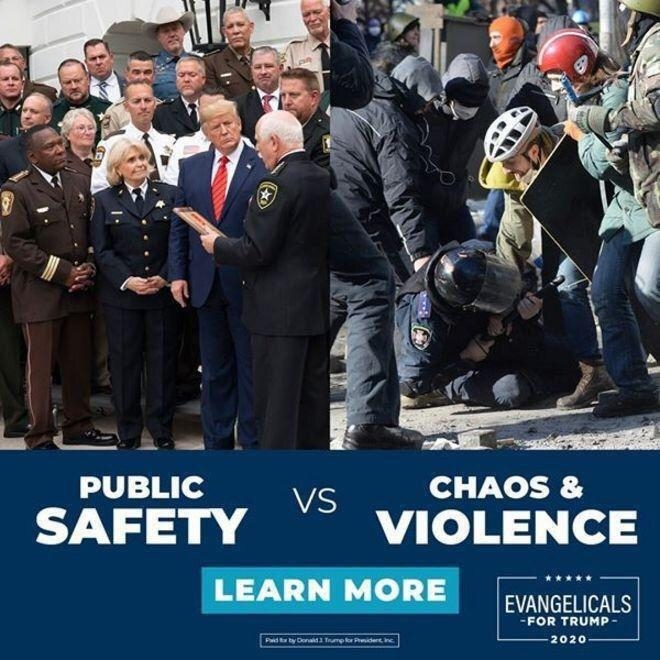 Трамп использовал фотографии с киевского майдана в предвыборной агитации