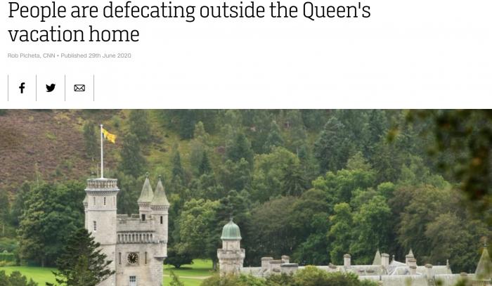 Британцы загадили королевский особняк