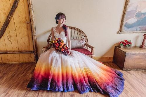 Необычный свадебный наряд принёс невесте известность и приличный доход