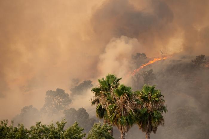 Никогда такого не было и вот опять:  В Калифорнии бушуют пожары