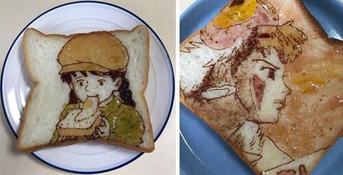Обычный бутерброд в руках художника превращается в произведение искусства