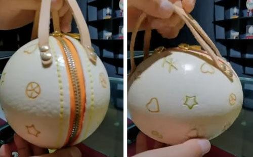 Из страусиных яиц выходят оригинальные сумочки