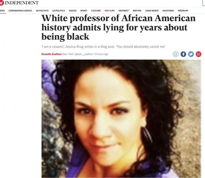 Белая профессорша Университета Джорджа Вашингтона притворялась негритянкой