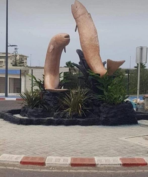 «Пенисоподобные» статуи прыгающих рыб снесли в Марокко после того, как разъяренные местные жители назвали их порнографией