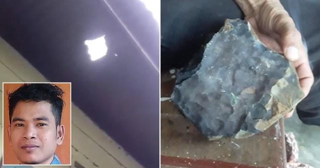 Мужчина мгновенно стал миллионером, когда метеорит стоимостью 1 400 000 фунтов стерлингов врезался в его крышу