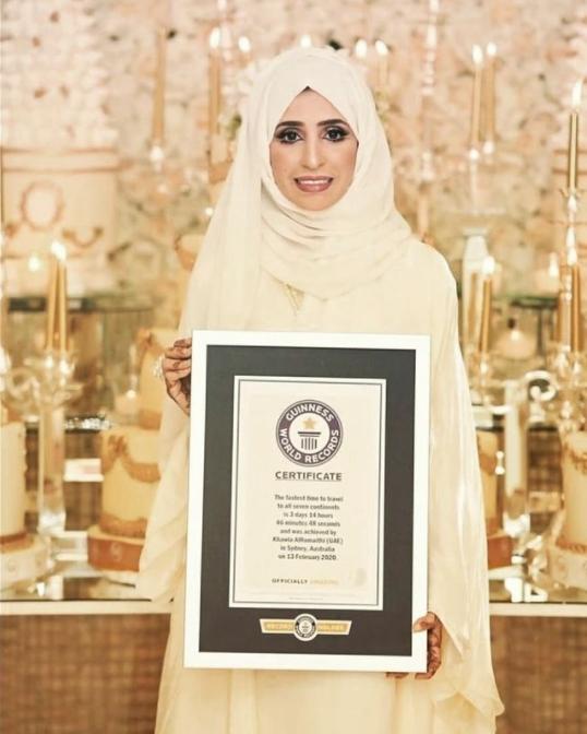 Вот как женщина из ОАЭ сумела пропутешествовать по всем семи континентам всего за три дня