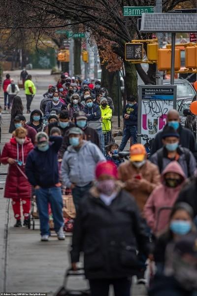 Американский голодомор: миллионы голодных американцев стоят в очередях за бесплатной едой на день Благодарения