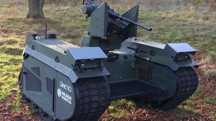Армия США показывает ужасающие танки-роботы, вооруженные ракетными установками и цепными пушками