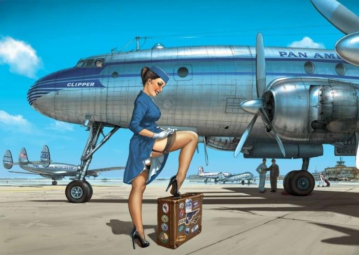 Модель Playboy отправилась в полёт в откровенном наряде