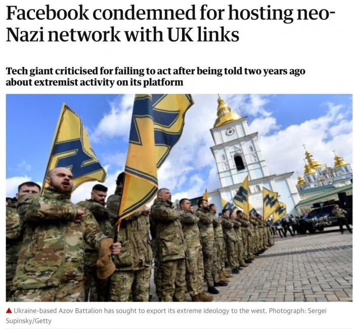 Соколиный глаз: британцы наконец-то заметили, что на Украине есть неонацисты