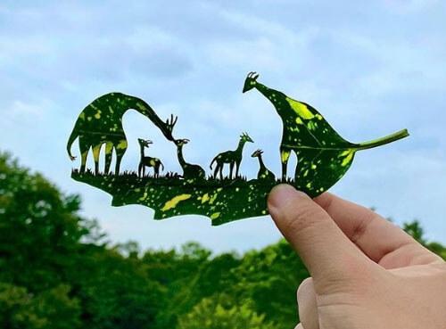 Листья деревьев могут послужить отличным материалом для творческих идей