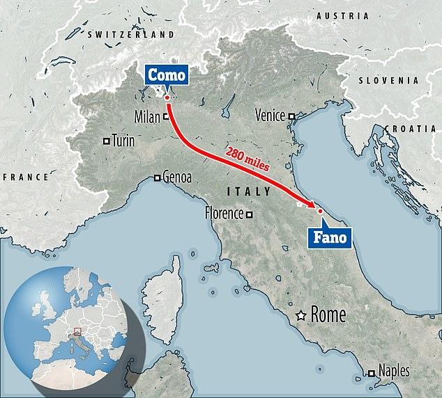 Итальянец отправился на 450-киллометровую семидневную прогулку, чтобы успокоиться после ссоры с женой