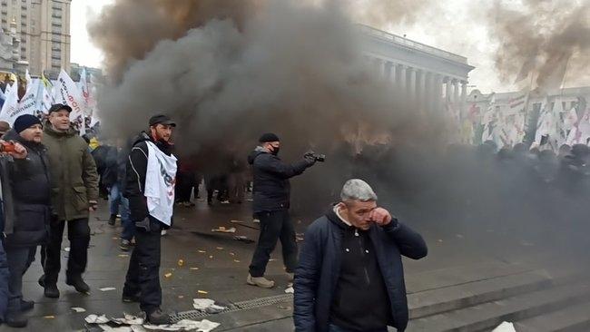 Без печенек не взлетит: киевская полиция разгромила митинг протеста