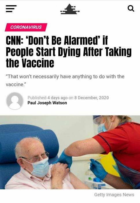 Смерть им к лицу: СNN предупредила, что смертность от западной вакцины – не повод для волнения