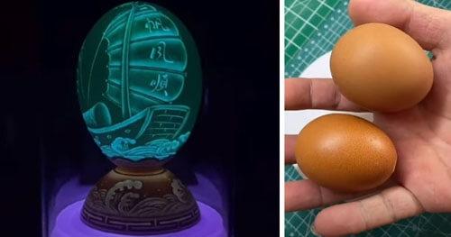 Из яичной скорлупы можно сделать весьма оригинальные вещи