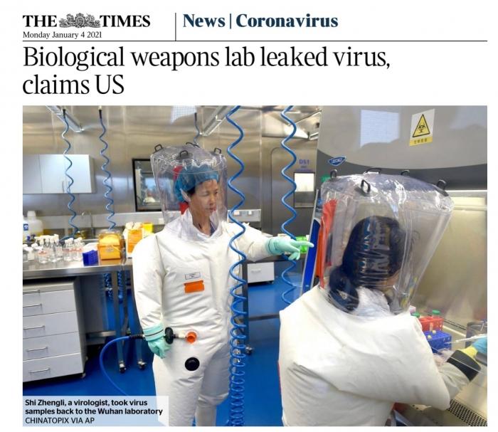 США признали искусственное происхождение коронавируса