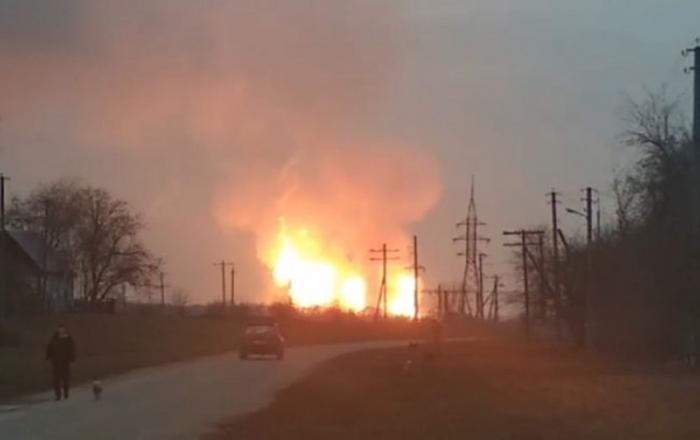 В полтавской области взорвался магистральный газопровод, качавший газ из России в Европу