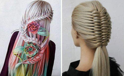 Фантастические причёски на основе кос завораживают своей красотой