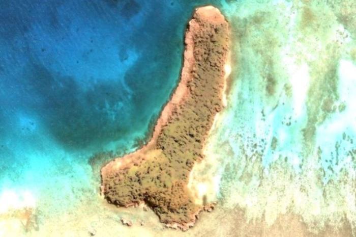 Поклонница Google Earth обнаружила остров в форме пениса посреди Тихого океана