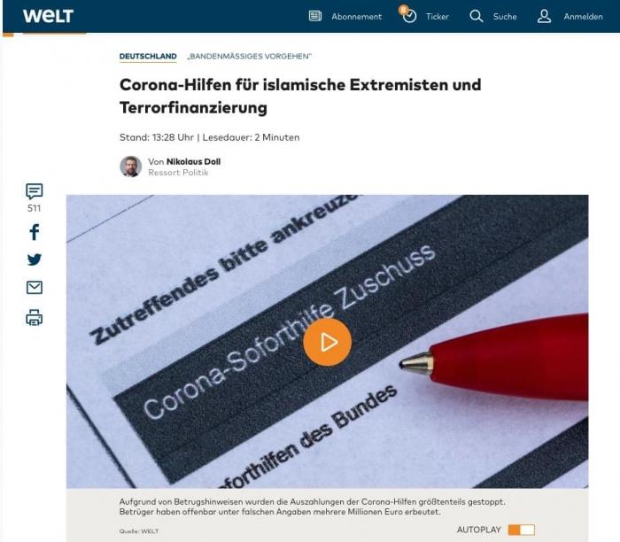 Гримасы демократия: антикризисные пособия из Германии попали исламским террористам