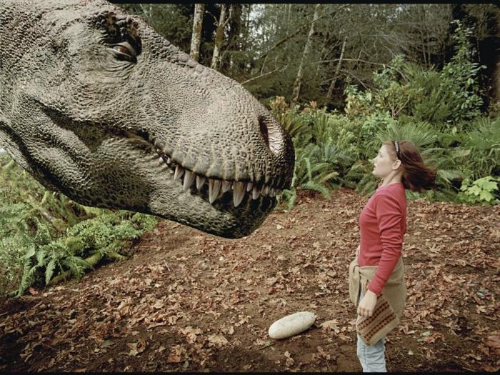 Женщина убеждена, что она сняла на видео «динозавра», пробегающего мимо ее дома в причудливом фильме
