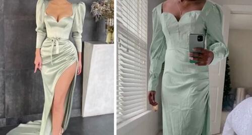 Ожидание и реальность: покупательница  вместо красивого платья получила нечто иное