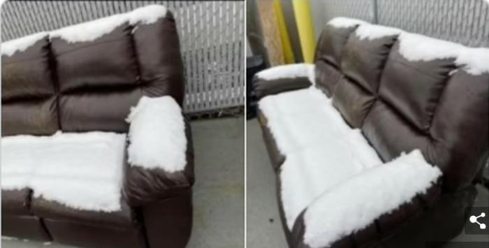 Онлайн-покупатели показали самые странные предметы, которые они видели в продаже, включая диван, покрытый снегом, и использованные гробы