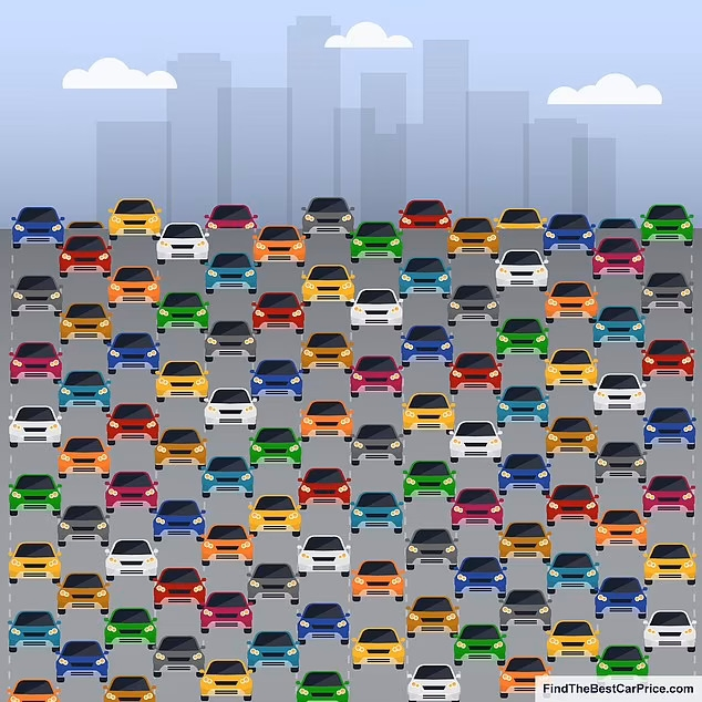 Можете ли вы найти машину, у которой отсутствует зеркало заднего вида? Зрительная загадка подвергнет испытанию ваши навыки наблюдения