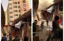 Ужасно. Шестиэтажный жилой дом в Карачи обрушился через 40 минут после того, как его эвакуировали