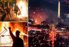 Вашингтон в огне. Протестующие начали разжигать огонь возле Белого дома