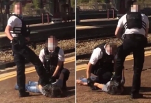 Французский полицейский избил ногами британца из-за отсутствия маски