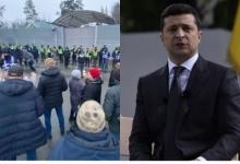 Незамеченный протест: на Украине протестующие атаковали дачу Зеленского