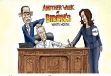 Старик Байден стал первым в истории США президентом, неспособным провести пресс-конференцию