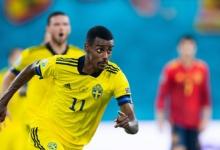 Футболистсборной ШвецииИсак заявил, что доволен игрой с Испанией