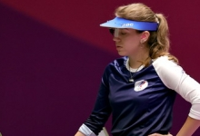 Бацарашкина вышла в финал ОИ в стрельбе из пистолета с 25 м