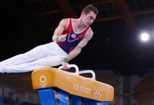 Гимнаст Белявский стал четвёртым в упражнениях на коне на Олимпиаде