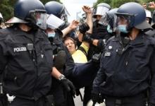 Около 600 человек задержали в Берлине в ходе акций против ковид-ограничений