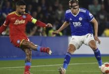 Дубль Осимхена спас «Наполи» от поражения в матче Лиги Европы с «Лестером»
